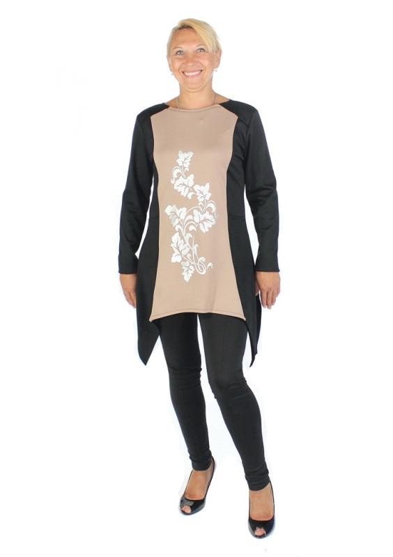 Платье с фалдами