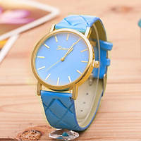 Женские часы Geneva на ремешке из экокожи голубые