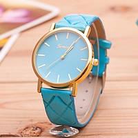 Женские часы Geneva на ремешке из экокожи мятные, фото 1