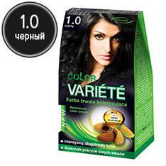 Chantal Variete Color - Стойкая крем-краска для волос 1.1 (черный)