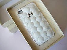 Кожаный чехол для iPhone 4 - Hermes
