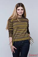 Женский осенний вязаный свитер