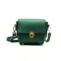 Женская сумочка клатч зеленая 435