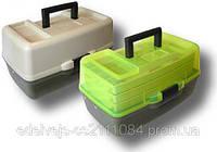 Ящик рыболовный раздвижной на 3 полки aquatech 1703т (прозрачная крышка). Удобный ящик для снастей.