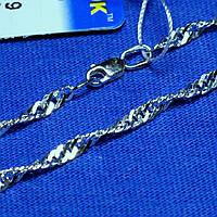 Серебряный браслет без камней Сингапурский 18 см 90227205051, фото 1