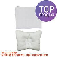 Подушка детская с бамбуковым наполнением 28х28 / аксессуары для детской