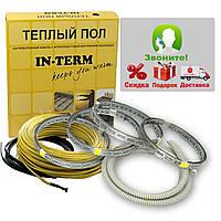Теплый пол электрический Греющий кабель In-term 64 м. (6,4 - 10,2 м²) 1300 Вт, фото 1