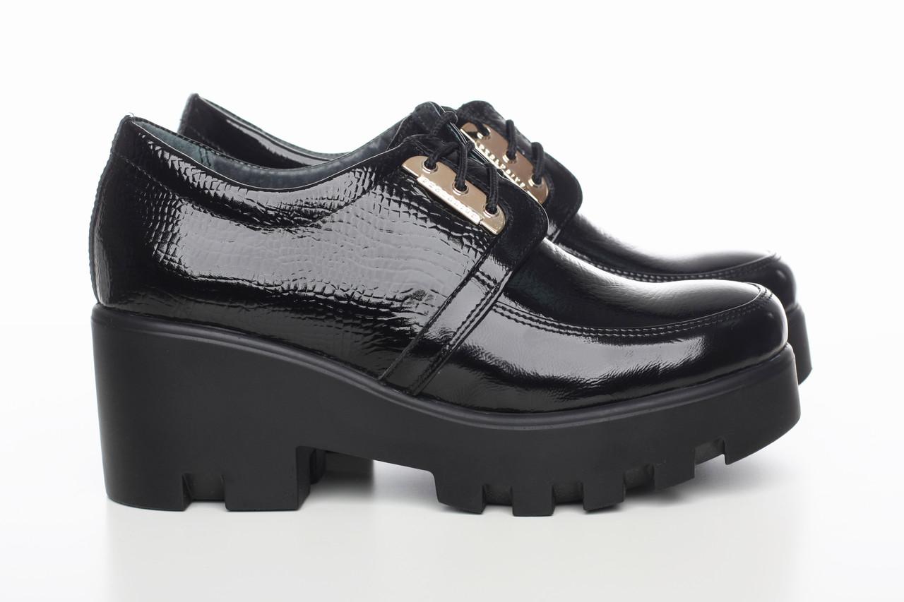 Лакированные туфли на платформе 3216-01 - Интернет-магазин обуви