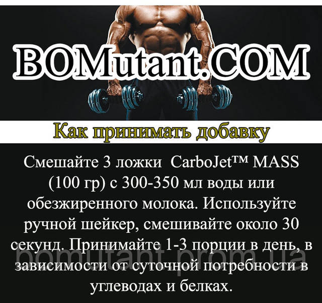 как принимать AMIX Carbo Jet Mass Professional 1,8 кг forest fruits