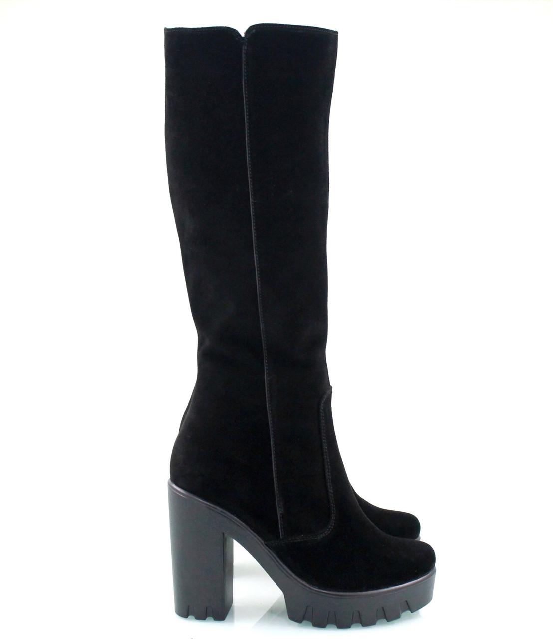 Зимние Замшевые сапоги 818-09зз - Интернет-магазин обуви