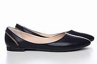 Кожаные черные балетки 0016-01