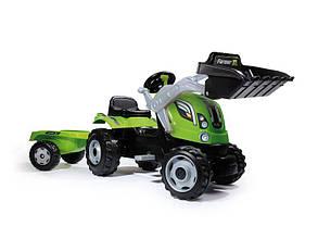 Трактор педальный c прицепом и ковшом Farmer XL Smoby 710109