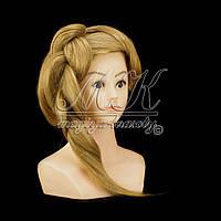 Учебная голова 60 см, человеческий волос, золотистый, фото 1