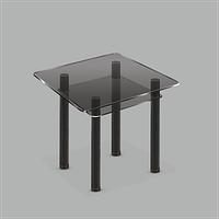 Стеклянный обеденный стол Kvadro G-G Bl