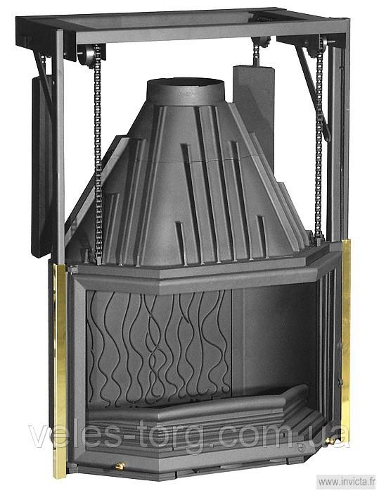 Каминная топка Invicta 850 Prismatique с подъемной дверцей 16 кВт