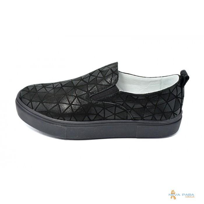 Слипоны Женские 3D Ditas 23 Black - Интернет-магазин обуви