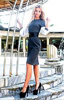 Офисное платье с корсетом