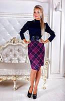 Платье миди  для офиса  с корсетом