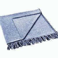 Полотенце с бахромой Tivolyo Home Gaia terry синий 100х180