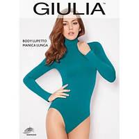 Боди Giulia Body LUPETTO MANICA LUNGA S/M dark turguiose(бирюзово-синий)