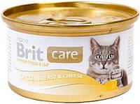 3018 Brit Care Cat Куриная грудка и сыр, 80 гр