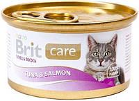 100060 Brit Care Cat Тунец и лосось, 80 гр