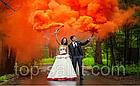 Цветная ручная дымовая шашка ORANGE SMOKE, время: 60 секунд, цвет дыма: оранжевый, фото 2