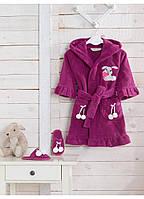 Халат Soft Cotton BUNNY Фиолетовый 8-10 лет 140см