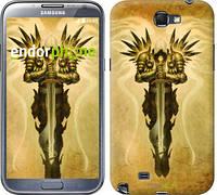 """Чехол на Samsung Galaxy Note 2 N7100 Diablo 3. Tyrael on a beige background """"623c-17"""""""