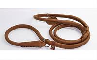 Поводок-удавка для собак COLLAR SOFT круглый, ширина 6мм, длина 135см, 73546 коричневый