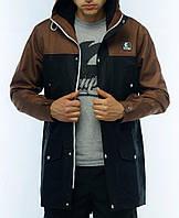 Парка Ястребь, мужская куртка(коричнево-черный) весна\осень