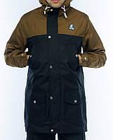 Парка Ястребь, мужская куртка(песок черный) весна\осень