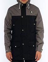 Парка Ястребь, мужская куртка(серо- черный) весна\осень