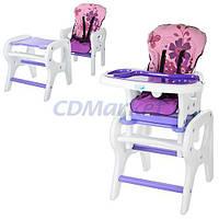 Bambi Акция! Детский стульчик-трансформер для кормления Bambi M 0816-17. Скидка 4% на товары для младенцев при покупке стульчика! Спешите, количество