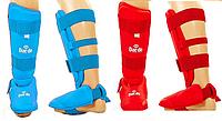 Защита голень с отделяющейся стопой для тхэквондо WTF Красный, XL