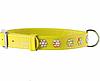 Ошейник COLLAR GLAMOUR со стразами Цветочек, ширина 9мм, длина 18-21см, желтый 32518