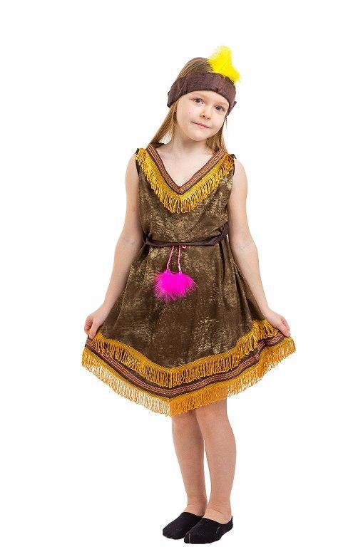 """Детский карнавальный костюм """"Индианка Покахонтас"""" для девочки"""