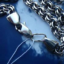 Серебряная цепочка, 550мм, 23 грамма, плетение Бисмарк, фото 3