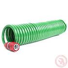 """Шланг для полива спиральный 7,5 м с конекторами + aдаптер универсальный для конектора 1/2"""" с внутренней резьбо"""