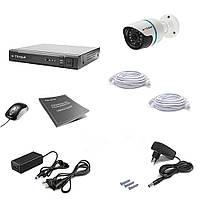 Комплект IP видеонаблюдения Tecsar IP 1OUT, фото 1
