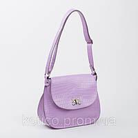 Кожанная сумка Габриэль светло фиолетовая_склад