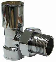 Кран радиаторный угловой под ключ 1/2'' SOLOMON CHROM