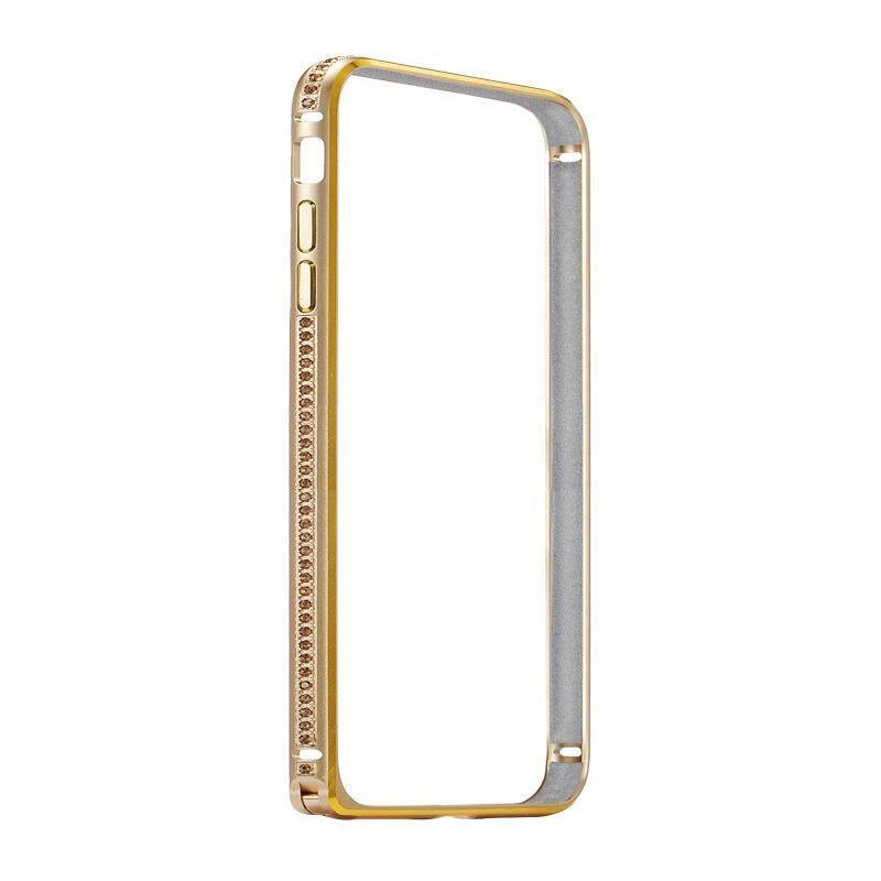 Бампер со стразами Coteetci Diamond золотой для iPhone 7 Plus 8 plus