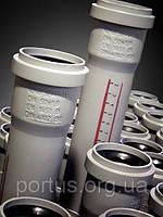 Труба ПП 50x1,8x1500 Ostendorf (Osma) Германия раструбная с уплотнительным кольцом и сантиметровой разметкой