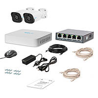 Комплект IP видеонаблюдения Tecsar Lead IP 2BUL-2MP, фото 1