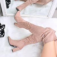 Ботфорты женские Glossy пудра 3590 35 размер, осенняя обувь