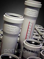 Труба ПП 110x2,7x1500 Ostendorf (Osma) Германия раструбная с уплотнительным кольцом и сантиметровой разметкой