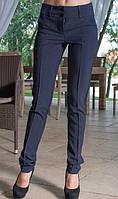 Деловые брюки темно синие