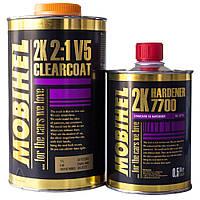 Лак автомобильный акриловый Mobihel (Мобихел) V5 MS 2+1 1 л с отвердителем 7700 0,5 л