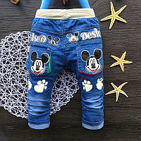 Модные джинсы для мальчика размер  90.